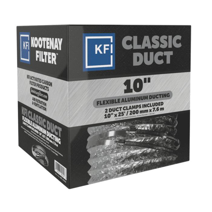"""Classic Aluminum Ducting, 10"""" x 25'"""