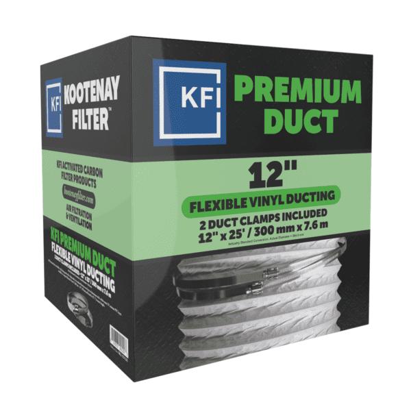 """Premium Vinyl Ducting, 12"""" x 25'"""
