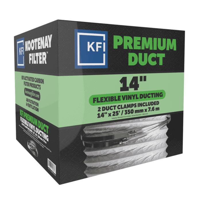 """Premium Vinyl Ducting, 14"""" x 25'"""