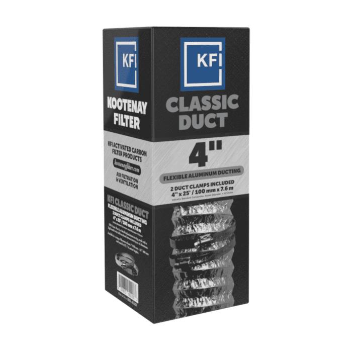 """KFI Classic Aluminum Ducting - 4"""" x 25'"""