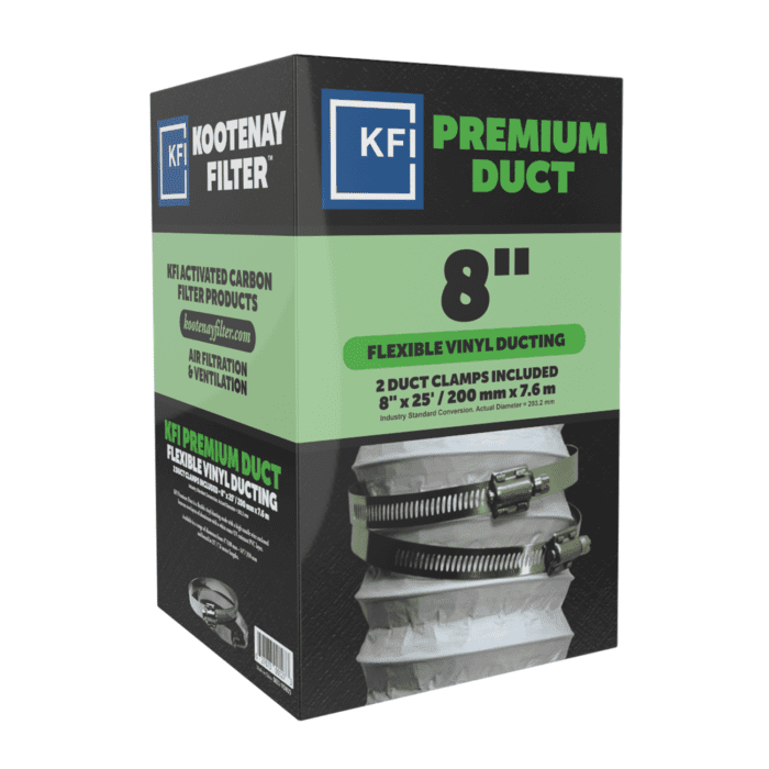 """Premium Vinyl Ducting, 8"""" x 25'"""